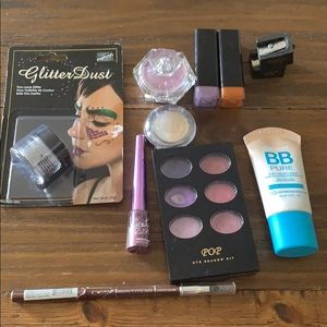 Makeup set lot eyeshadow glitter BB CREAM lipstick